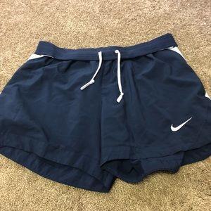 Blue & White Nike Athletic Shorts